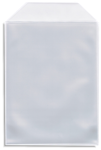 50 Pak Clear Cpp Plastic Dvd Sleeves With Flap For 14mm