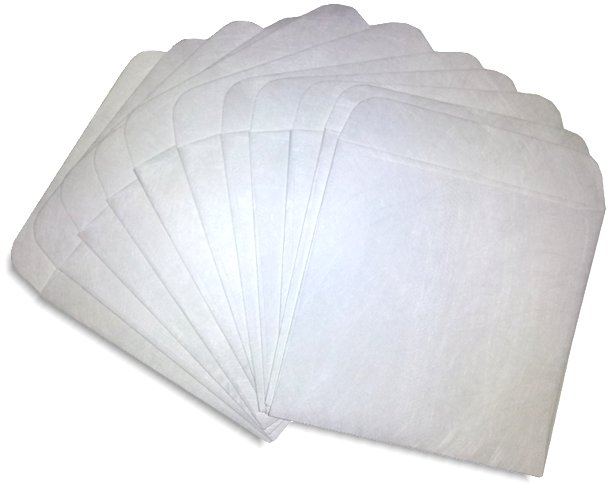 100 dvd sleeves with flap  no