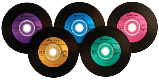 100 Pak Verbatim 52x 80 Min Digital Vinyl Cd R S 2 X