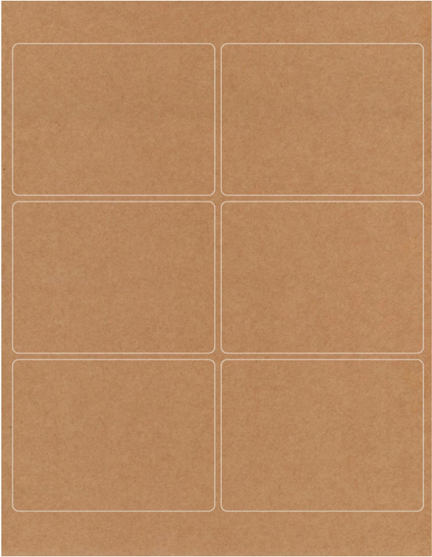genesysdtp com matte finish brown recyclable 4x3 labels